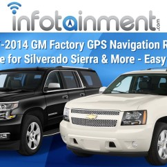 Chevy Colorado Radio Wiring Diagram Headphones Gm Factory Navigation Gps System Installation Tahoe Yukon Sierra Silverado Suburban H2 - Youtube