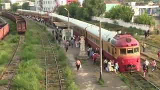 [ЧФМ] Двойной дизель-поезд Д1 нa ст. Вистерничень / [CFM] Double D1 DMU at Visternichen