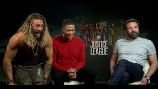 Ben Affleck, Jason Momoa, & Ray Fisher Interview for ″Justice League″