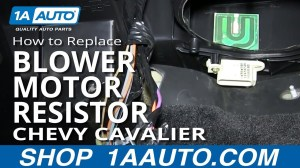How To Install Replace AC Heater Fan Speed Resistor 199502 Chevy Cavalier  YouTube