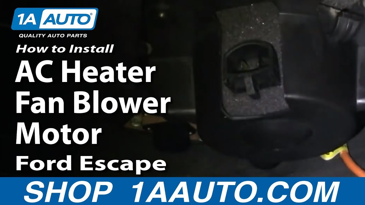 2006 Buick Rainier Fuse Box How To Install Replace Ac Heater Fan Blower Motor Ford