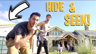 HIDE AND SEEK IN MILLION DOLLAR MODEL HOMES!