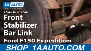 How To Install Replace Front Stabilizer Bar Link Ford F150 Expedition 1AAuto  YouTube