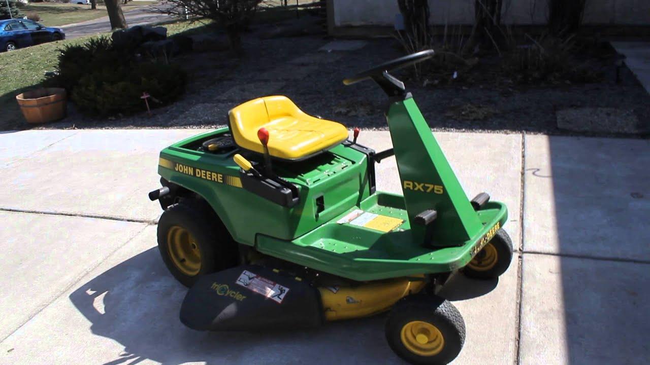 John Deere Srx75 Wiring Diagram John Deere Rx75 Riding Lawn Mower Tractor For Sale