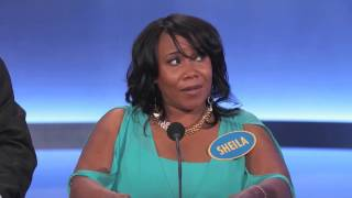 Family Feud - The worst contestant EVER on family feud ever - Sheila the ″NANA″ patterson