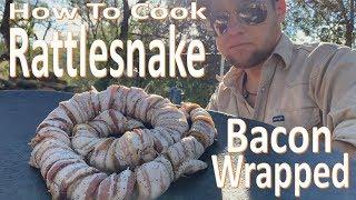 Bacon Wrapped RATTLESNAKE -Eating the Snake that Bit ME-