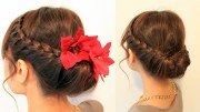 holiday braided updo hairstyle
