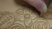 Tooling and Carving Leather - YouTube
