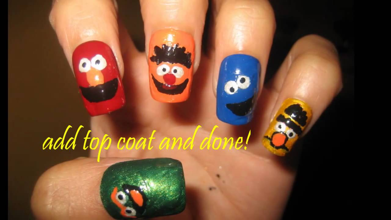 Sesame Street Nail Design