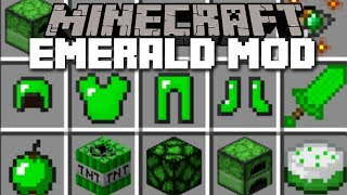 Minecraft EMERALD MOD / FIGHT THE EMERALD GOLEM AND SURVIVE!! Minecraft