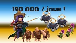 Meilleure technique farm élixir noir jusqu'à 190K par jour ! Clash of Clans français