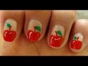 simple apple nail art - design