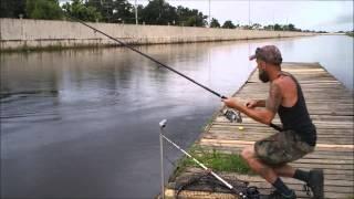 Fishing for Alligator Gar before the storm