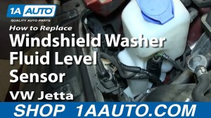 How To Replace Windshield Washer Fluid Level Sensor 200006 VW Jetta and Golf  YouTube