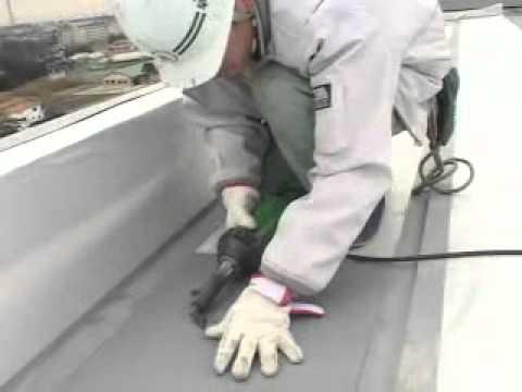 [PVC屋頂防水卷] 日本普遍使用在屋頂防水工程施工情況!(2) - YouTube