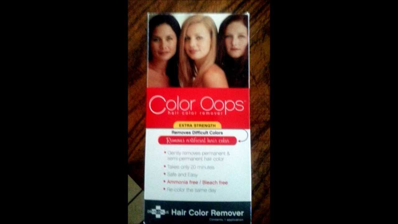 Using Color Oops Hair Color Remover on Red Hair