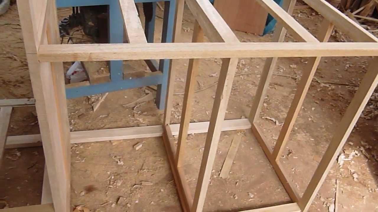 Construccion De Estructura De Madera Con Tornillos  YouTube