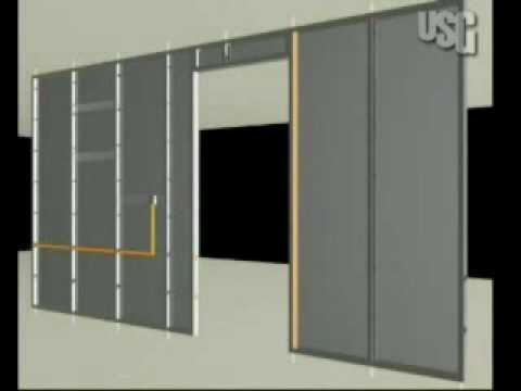 ConstruccionTVUSG Instalacin de paneles de yeso USG a
