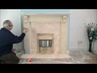 Fireplace Stone Coating - create a stone fireplace - YouTube
