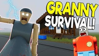 LEGO GRANNY ESCAPE SURVIVAL CHALLENGE! - Brick Rigs Gameplay Challenge - Lego Granny Escape