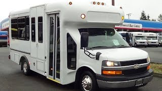 Northwest Bus Sales Used 2008 Chevy StarTrans 10 + 1 ADA Shuttle Bus or 4 Wheelchairs - S13263