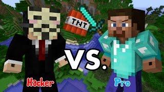 Hacker Vs Pro - Minecraft