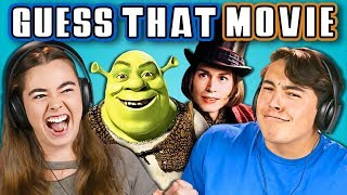 TEENS GUESS THAT MOVIE CHALLENGE (REACT)