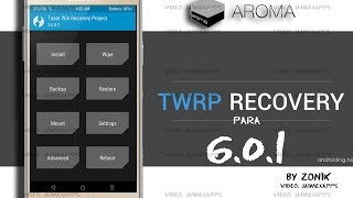 Nuevo TWRP soporte AROMA Para Galaxy j5 2015 Para 6 0 1