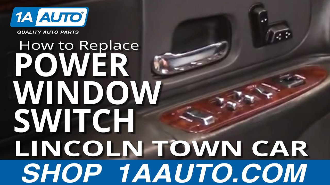 2000 jeep cherokee sport window wiring diagram outdoor tv antenna how to replace repair install broken driver power switch lincoln town car 98-02 1aauto ...