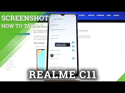 How to Turn Off Screenshot Sound in REALME C11 - Camera Settings