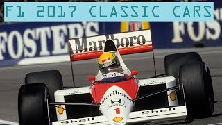 ALL F1 2017 CLASSIC CARS + ENGINE SOUNDS (ONBOARD) | F1 2017 PS4/Xbox/PC GAMEPLAY! |