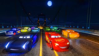 Night Street Race McQueen Jackson Storm Cruz Ramirez and Friends The King Chick Hicks - Cars & Songs