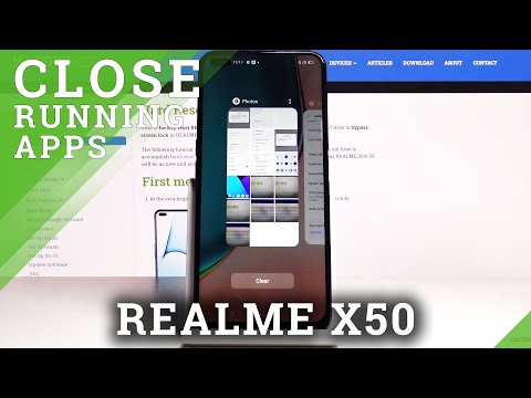How to Disable Background Apps in REALME X50 5G - Close Running Apps