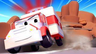 Tom the Tow Truck - Clown around cliffs - Car City ! Cars and Trucks Cartoon for kids