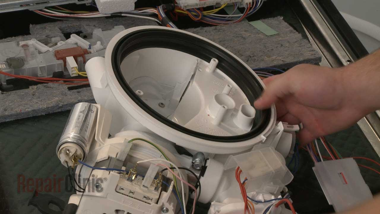 ge dishwasher parts diagram coriolis flow meter wiring pump gasket replacement – bosch repair (part #00263102) - youtube