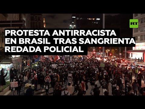 Protesta contra el racismo en Brasil tras la sangrienta redada policial