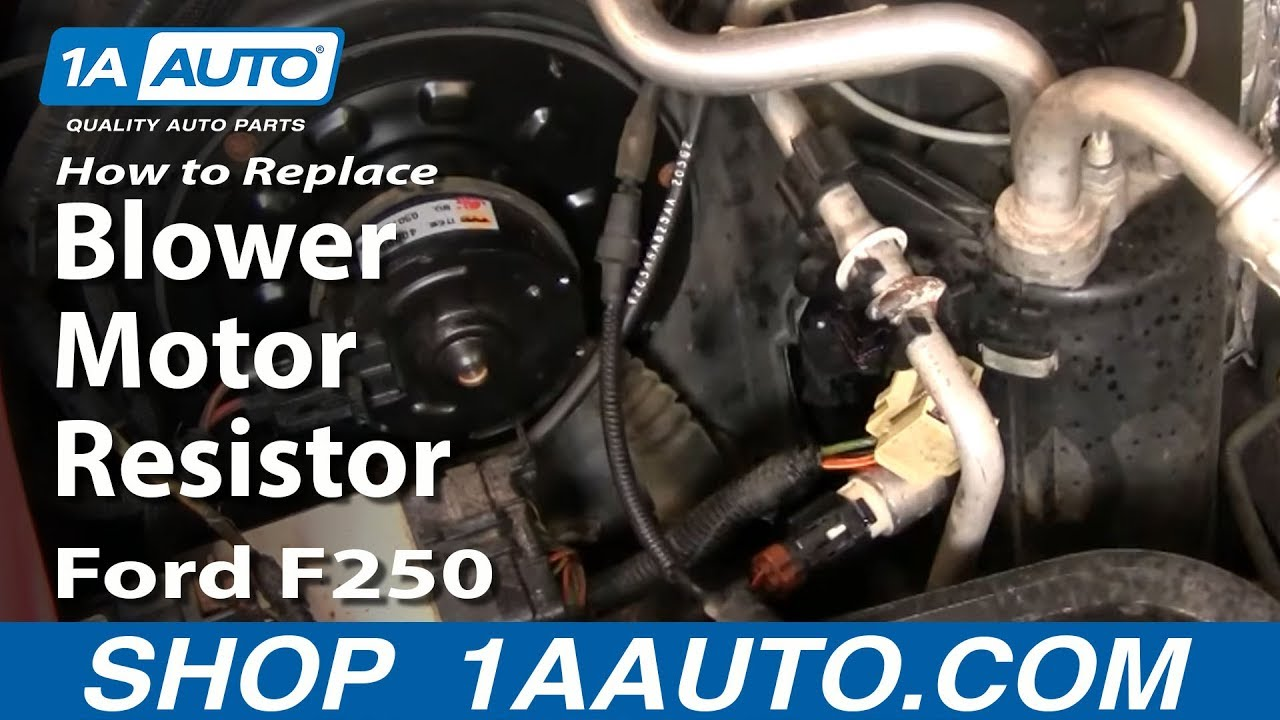 99 F550 Fuse Diagram How To Install Replace Heater Ac Fan Speed Resistor 99 07