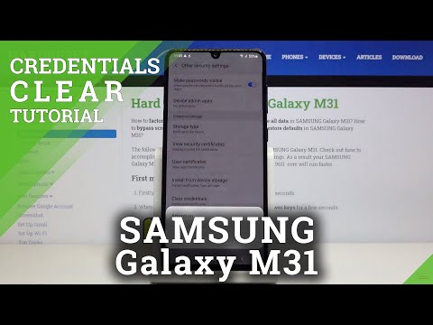 How to Clear Credentials in SAMSUNG Galaxy M31 - Remove All Certificates