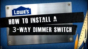How to Install a 3Way Dimmer Switch  YouTube