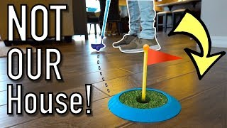 Playing Mini Golf in Model Homes!