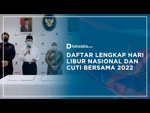 Daftar Lengkap Hari Libur Nasioal dan Cuti Bersama 2022 | Katadata Indonesia