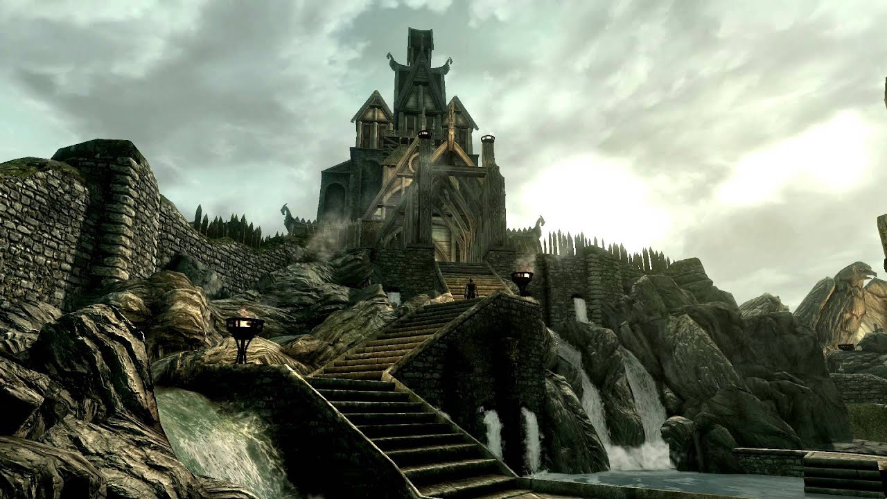 Dreamscene Girl Wallpaper Dreamscene Live Wallpaper Skyrim Whiterun Youtube