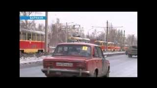 Барнаул. У трамвая оторвалось колесо. Авария. ДТП