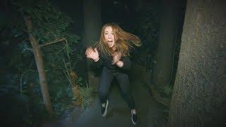 Watch Ellen's Employee Mackenzie Kicks Her Way Through a Haunted House Video
