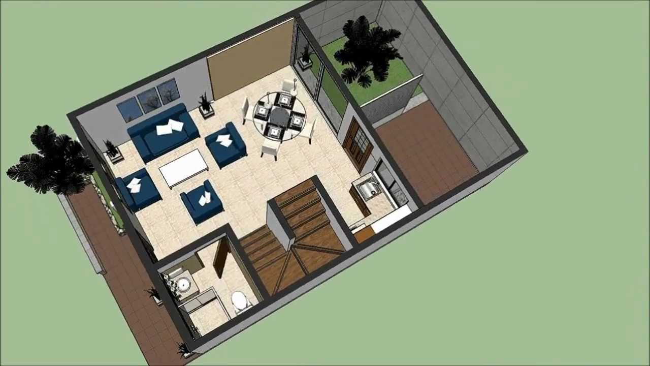 Planos Gratis Casa moderna 2 pisos 600 m x 900 m parte 1