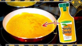 Removing The Liquid From Orange Juice?!
