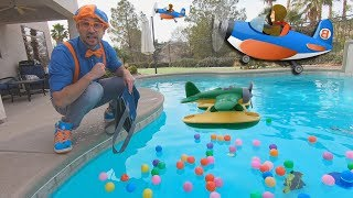Blippi and Airplanes for Kids | Educational for Toddlers and The Seaplane Song