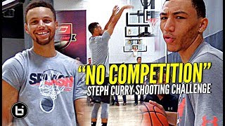 The Steph Curry Shooting Challenge! Steph DESTROYS TOP HS Guards at #SC30Select Camp!