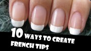 ways create french tips manicures