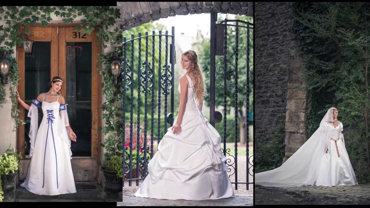 Shooting Medieval Wedding Dresses In The Old Port Of